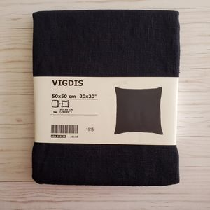 IKEA VIGDIS Cushion Cover Blue 20x20""